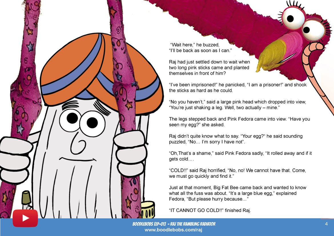 Stories For Kids - Raj The Rambling Radiator Book Page 2