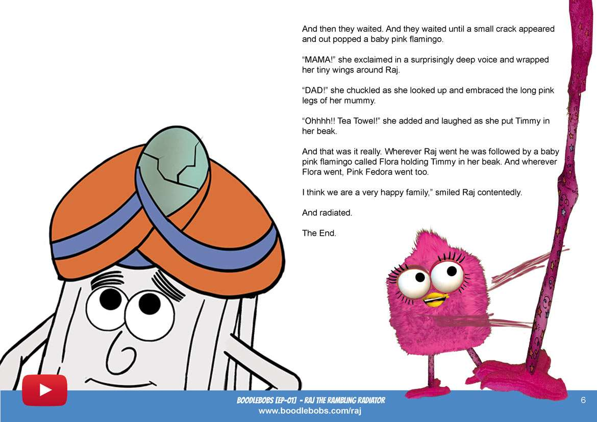 Stories For Kids - Raj The Rambling Radiator Book Page 4 - BoodleBobs 01