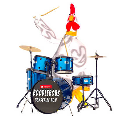 Stories story BoodleBobs Henrietta Hen Playing Drums
