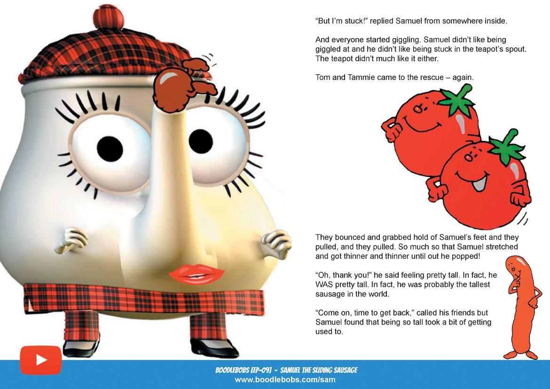 Bedtime stories child, Samuel the sliding sausage - BoodleBobs Book 9 Page 4