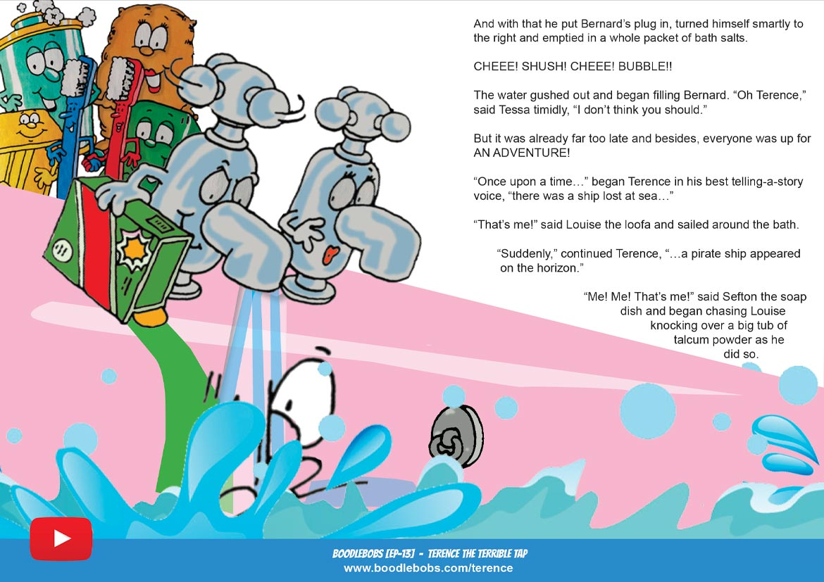 Books For Children Online, Terence The Terrible Tap Story Book Page 2