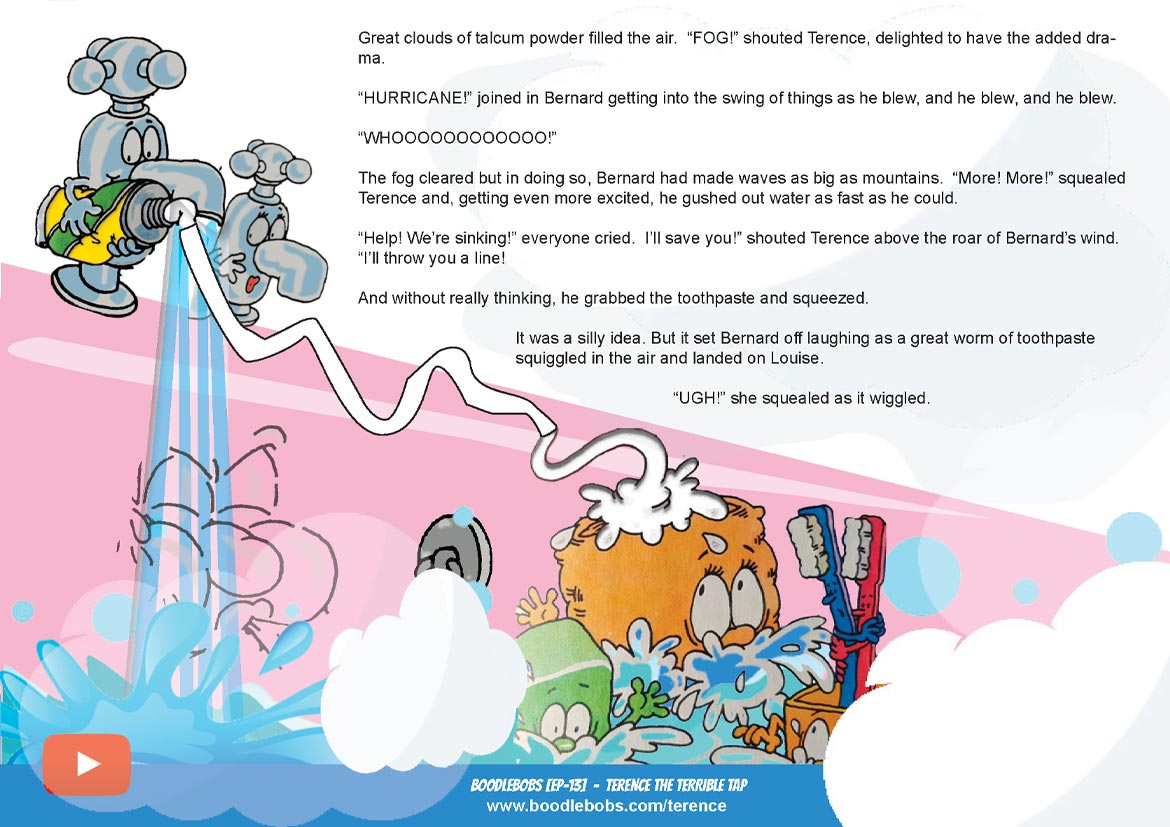Books For Children Online, Terence The Terrible Tap Story Book Page 3