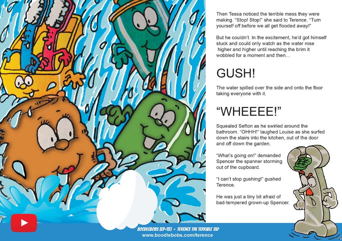 Books For Children Online - Terence The Terrible Tap - BoodleBobs 13 Page 4