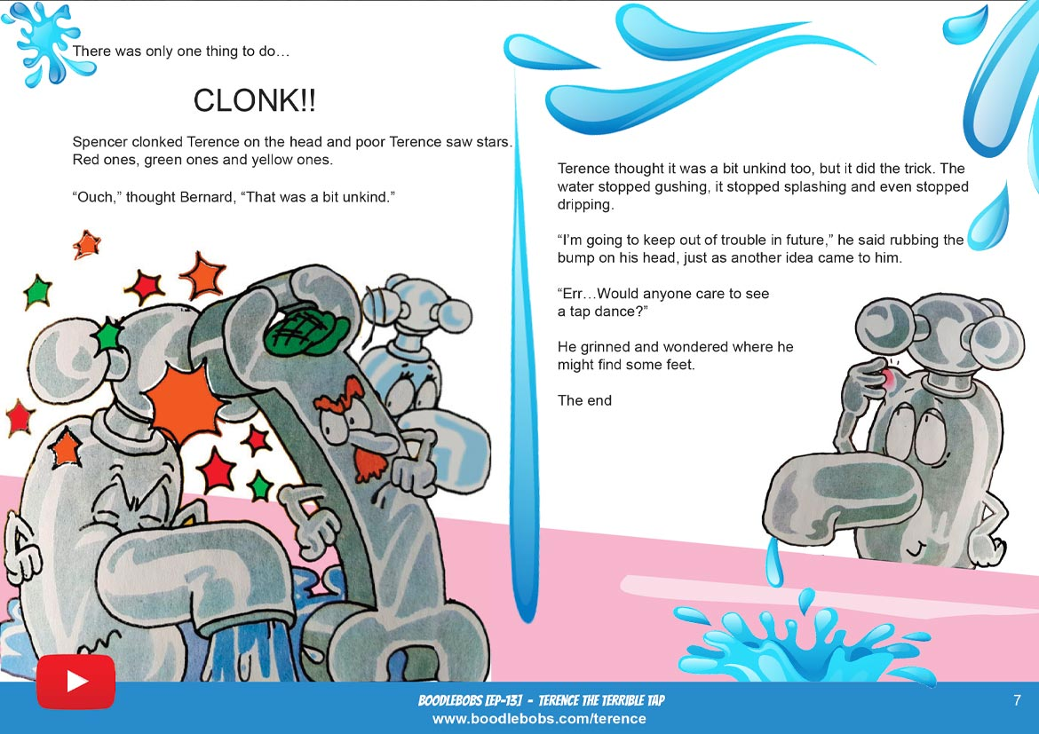 Books For Children Online, Terence The Terrible Tap Story Book Page 4