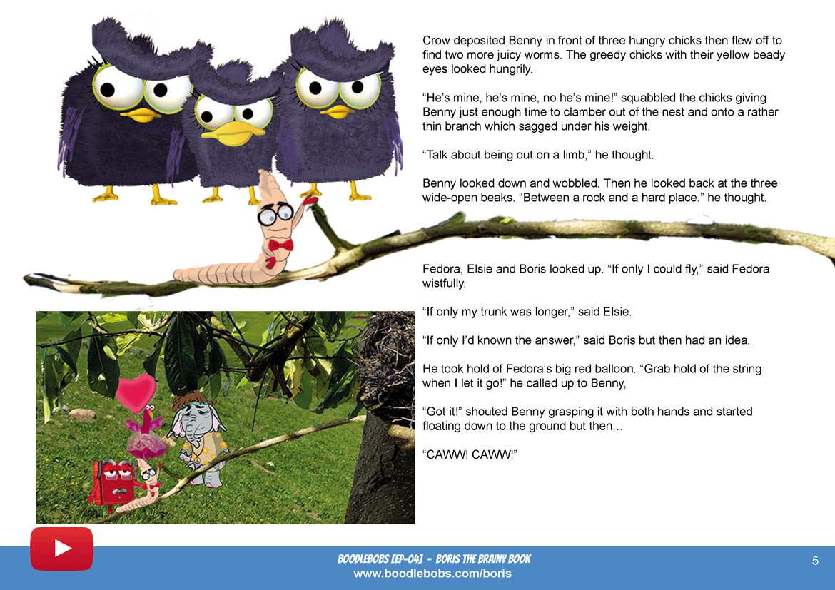 Bedtime Stories For Kids - Boris The Brainy Book Page 3