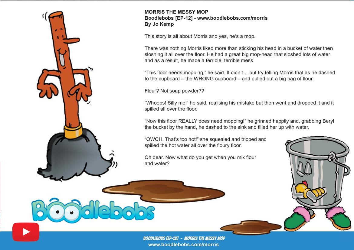 Morris the Messy Mop Childrens Book Page 1
