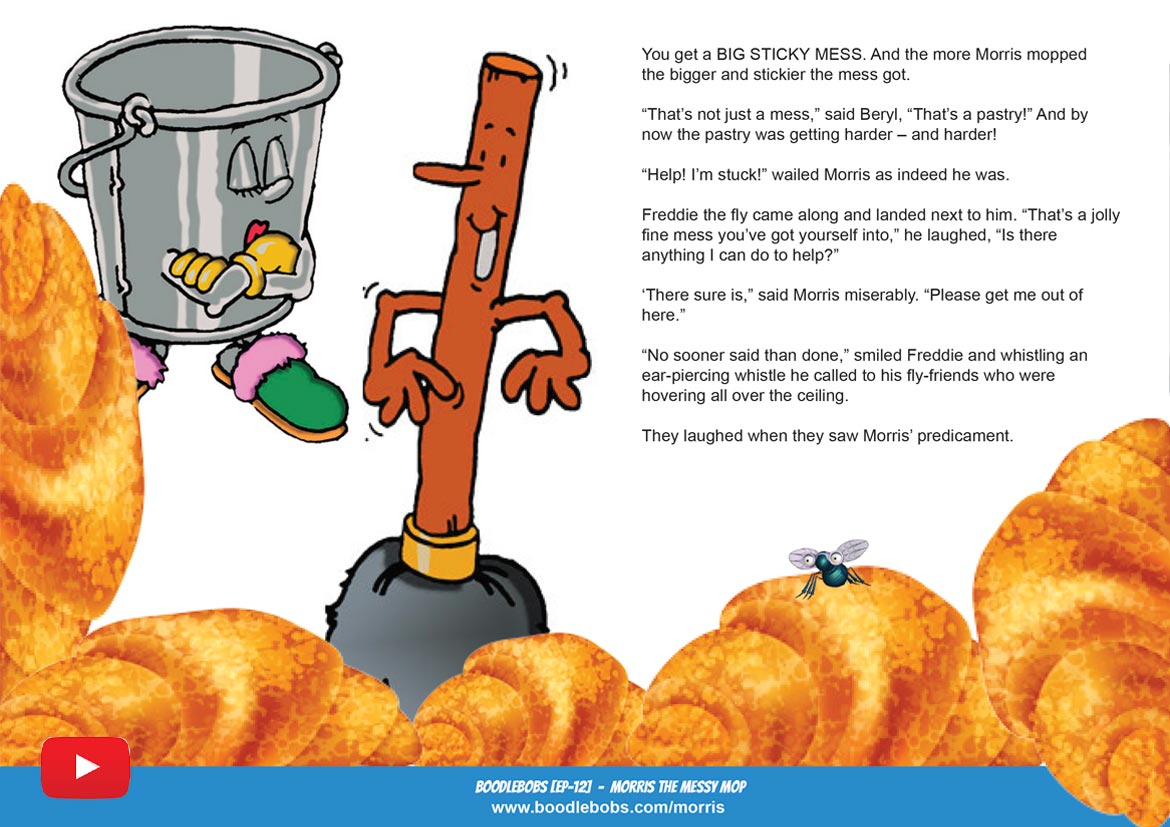 Morris the Messy Mop Childrens Book Page 2