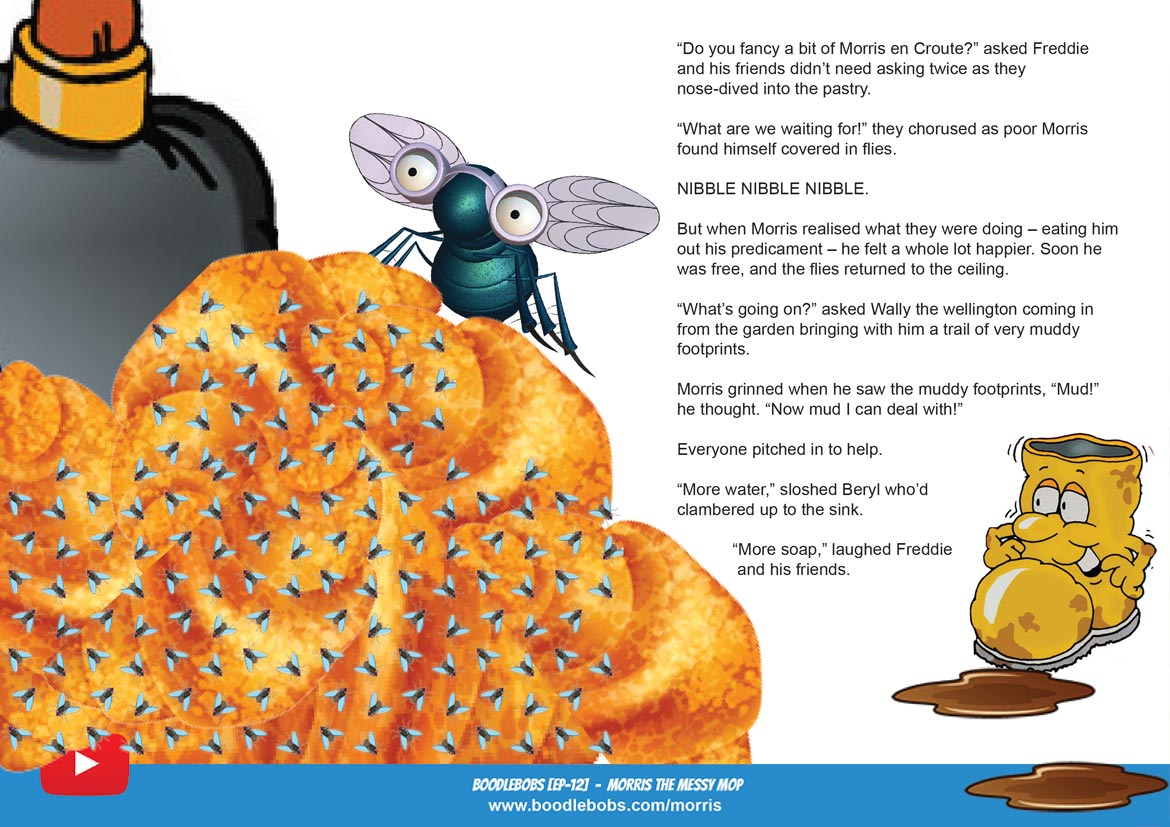 Morris the Messy Mop Children's Book Page 3