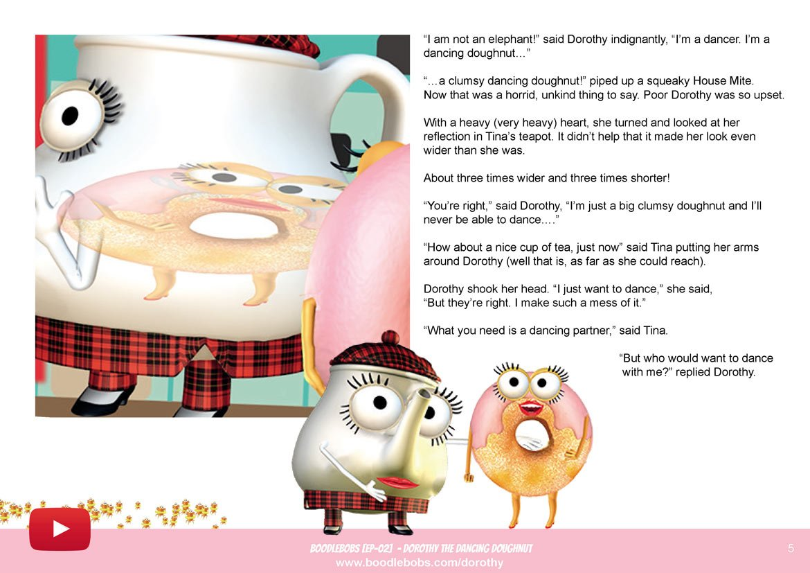 Bedtime Stories For Kids - Dorothy The Dancing Doughnut Book Page 3 - BoodleBobs 02