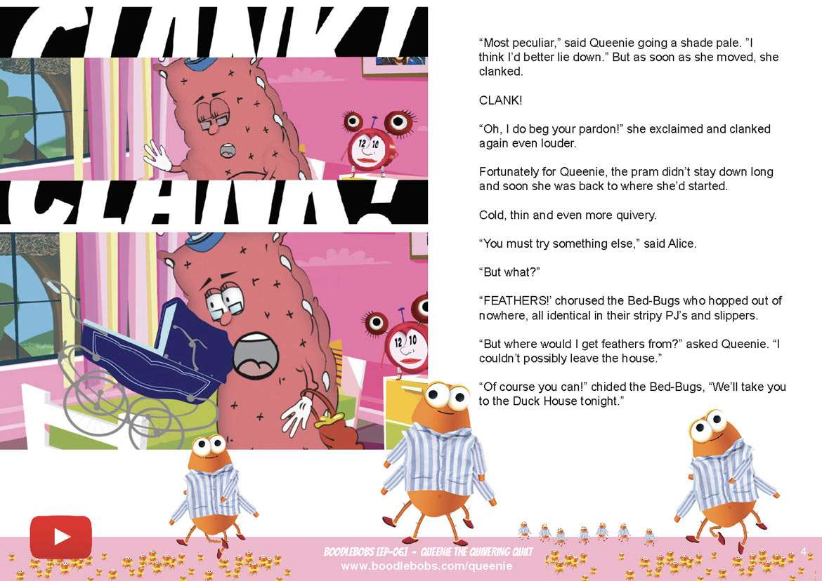 Kids Bedtime Stories, Queenie The Quivering Quilt Book Page 2