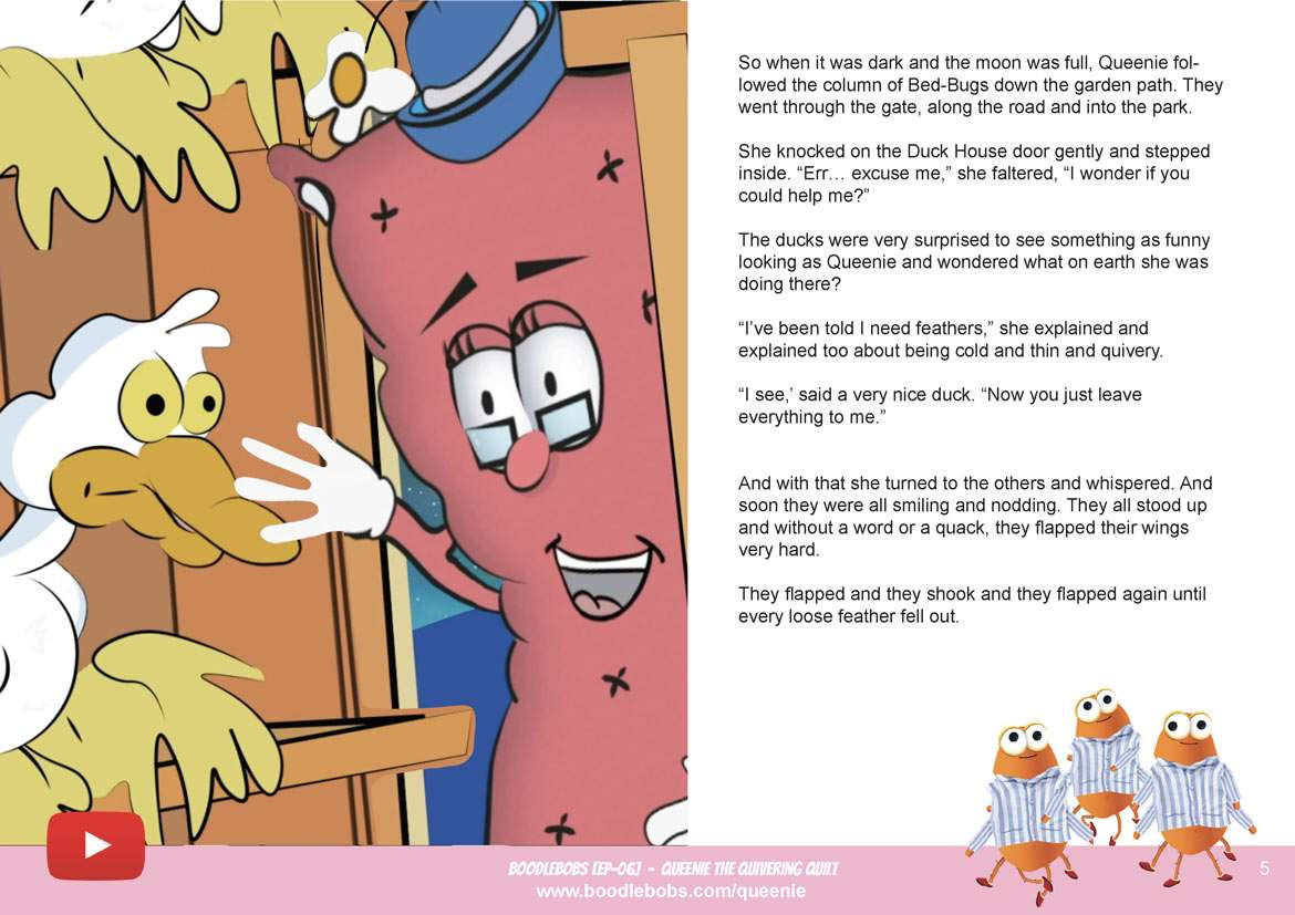Kids Bedtime Stories, Queenie The Quivering Quilt Book Page 3