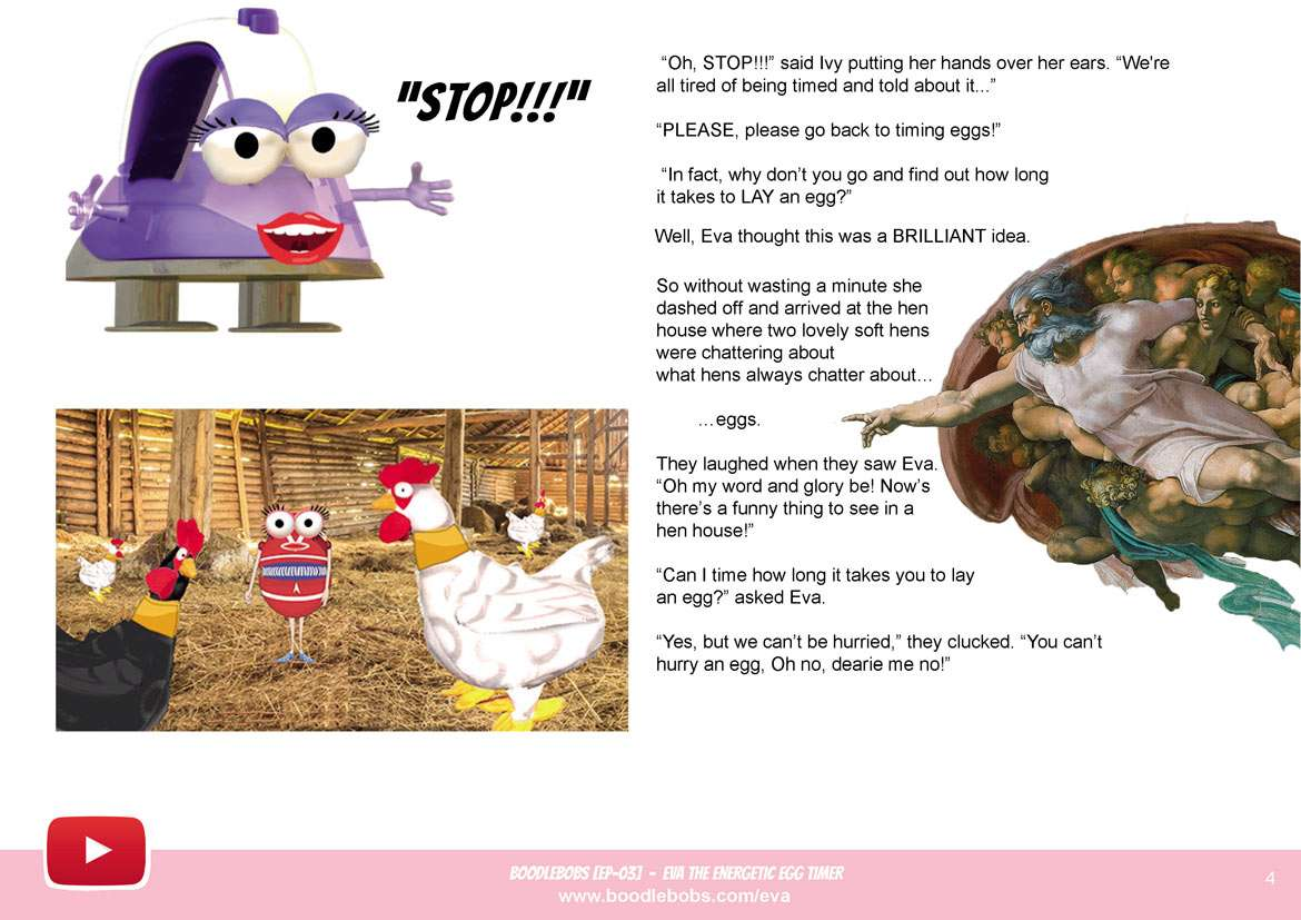 Kids Story – Eva The Energetic Egg Timer Book page 4