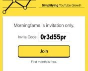 Morningfa.me Invitation Code One Month Free Morningfame Access Via Boodlebobs Invitation Code