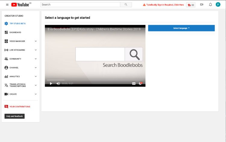 How To Translate A Video On Youtube - Help Guide Boodlebobs Img 1