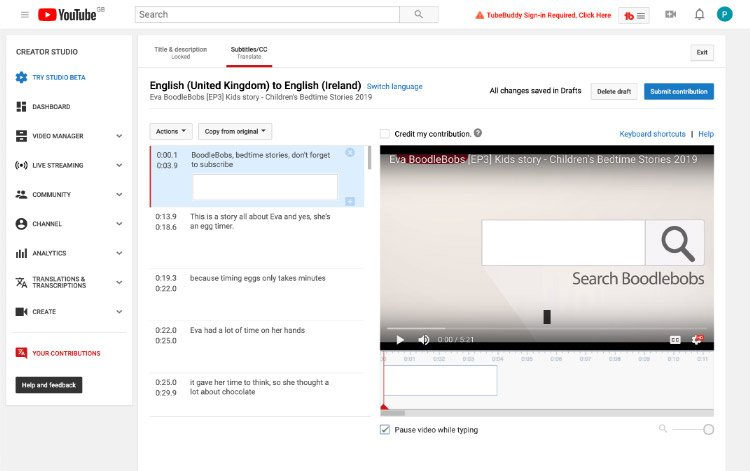 How To Translate A Video On Youtube - Help Guide Boodlebobs Img 4