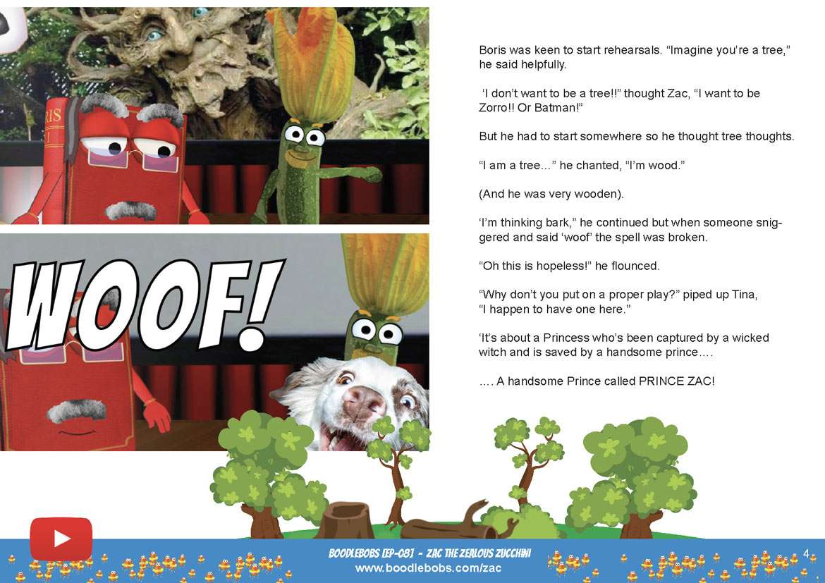 Bedtime Stories Kids - Zac The Zealous Zucchini Book Page 2