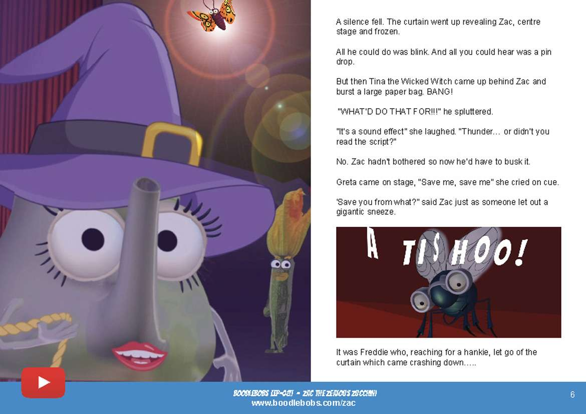 Bedtime Stories Kids - Zac The Zealous Zucchini Book Page 3