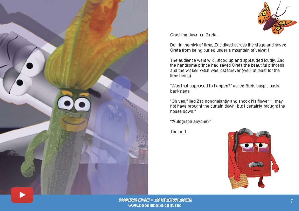 Bedtime Stories Kids - Zac The Zealous Zucchini Book Page 4