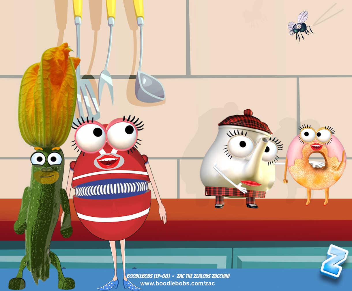 Bedtime Stories Kids - Zac The Zealous Zucchini Book Page 1