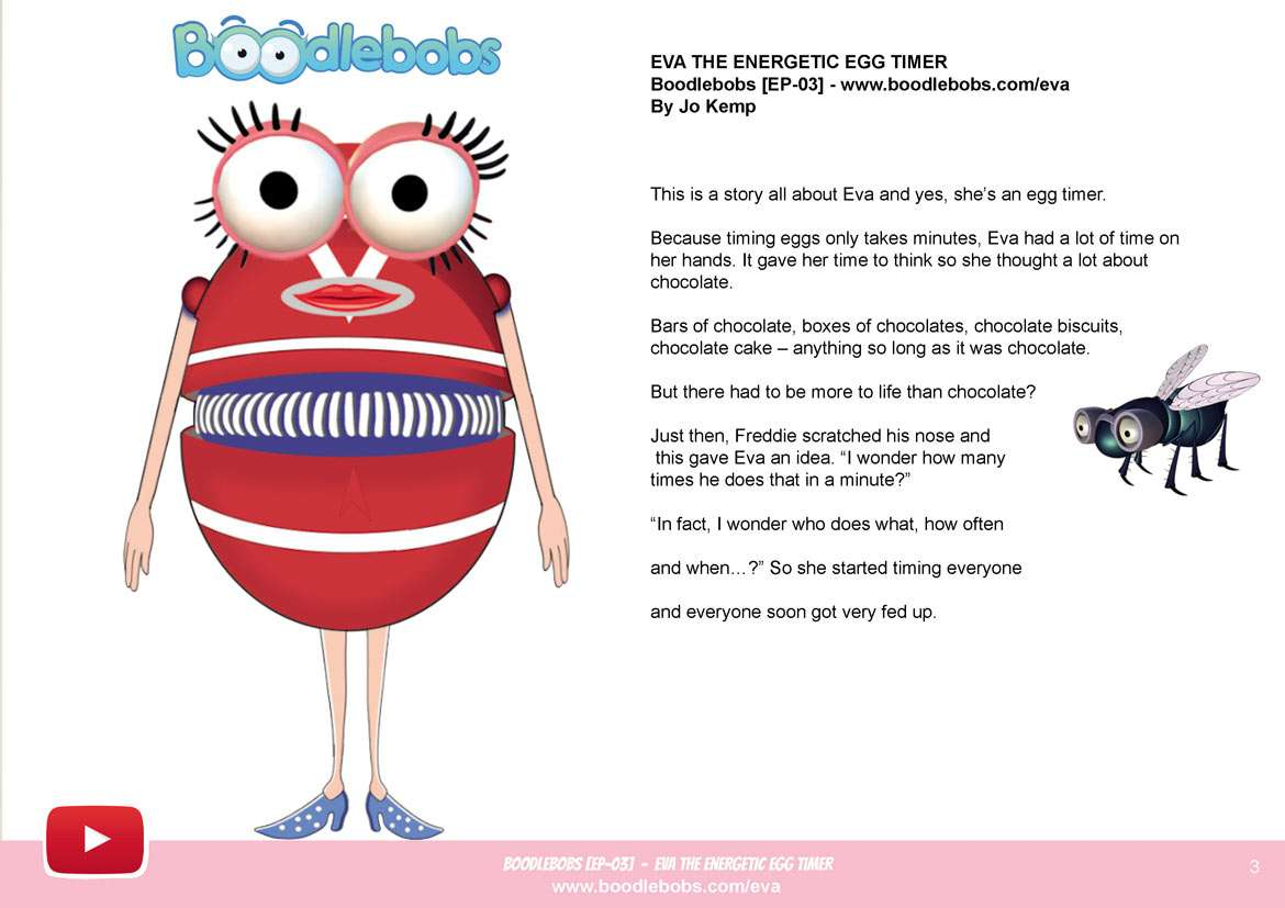 Kids Story – Eva The Energetic Egg Timer Book page 3