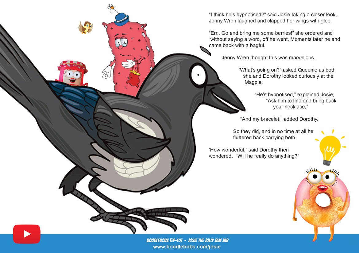 Read Aloud Story BoodleBobs 10 Page 3 - Josie The Jolly Jam Jar