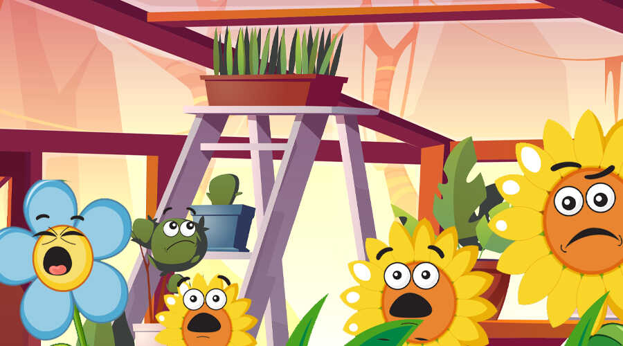 Read Aloud Book, Percy The Peeping Pot Plant Book Page 4