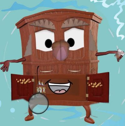 Kids Short Story, Cameron The Courageous Cabinet Story Character