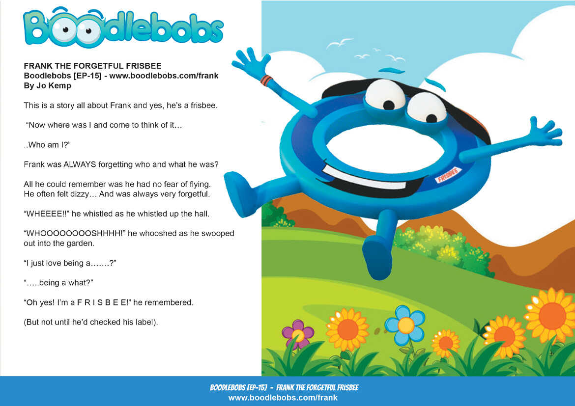 Story books online Frank the Forgetful Frisbee BoodleBobs Page 1 PDF