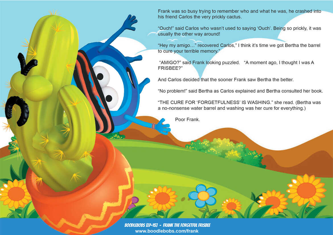 Story books online Frank the Forgetful Frisbee BoodleBobs Page 2 PDF