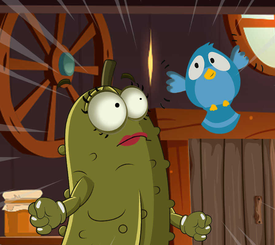 Free Books For Kids, Glenda The Gregarious Gherkin Page 4 Alone In The Dark BoodleBobs