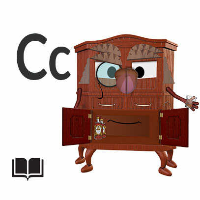 Kids Short Story, Cameron The Courageous Cabinet, cartoon Character