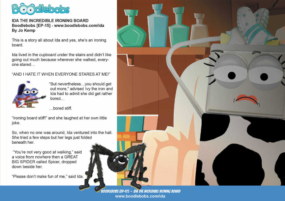 Kids Books Online, Ida the Incredible Ironing Board Page 1