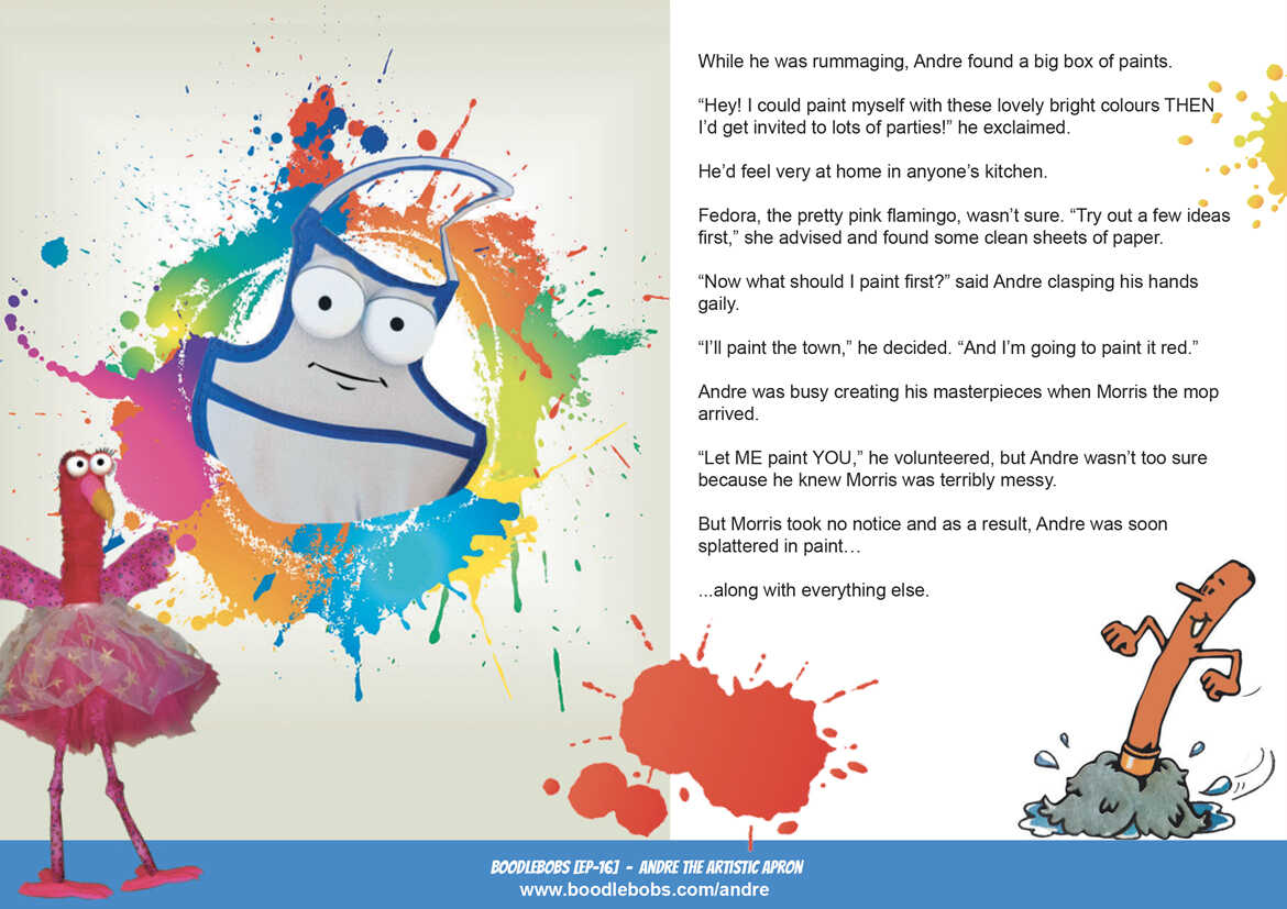 Picture Book - Andre The Artistic Apron Page 2 - kids Story