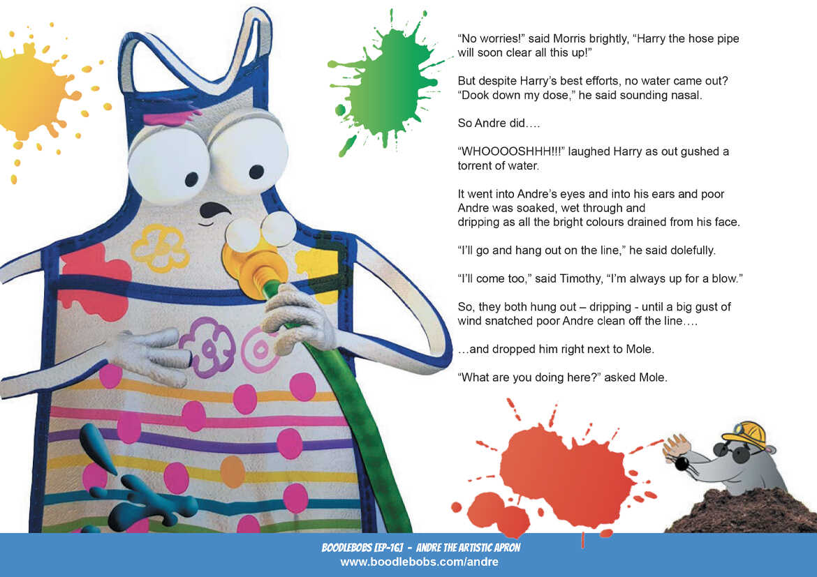 Picture Book - Andre The Artistic Apron Page 3 - kid's Story