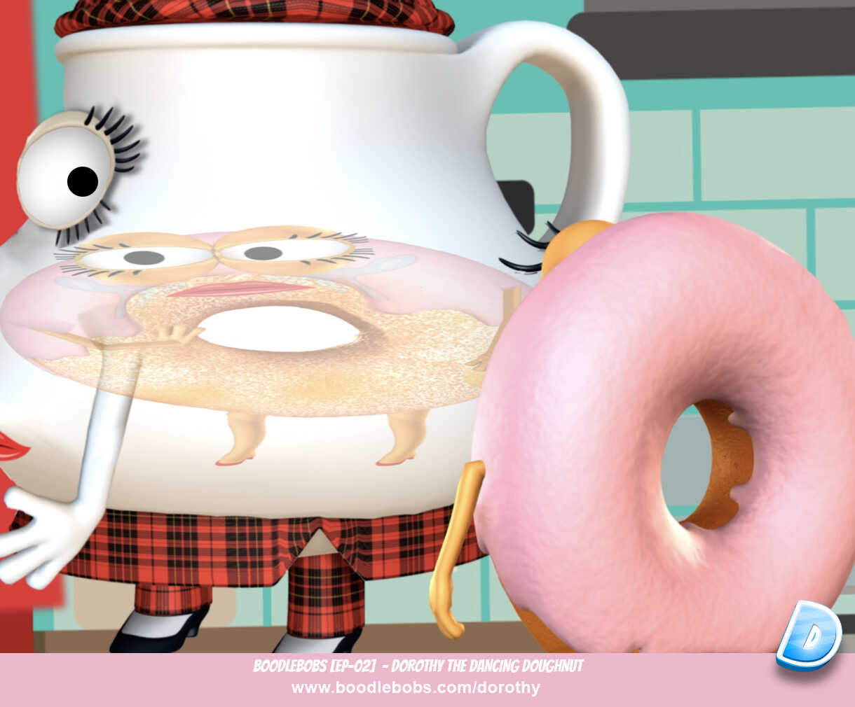 Bedtime Stories For Kids - Dorothy The Dancing Doughnut Tina Reflection Image - BoodleBobs 02