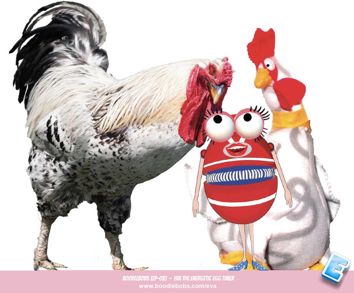 Kids Story – Eva The Energetic Egg Timer Book Page 2B Cornelius Cockerel Henrietta BoodleBobs 03