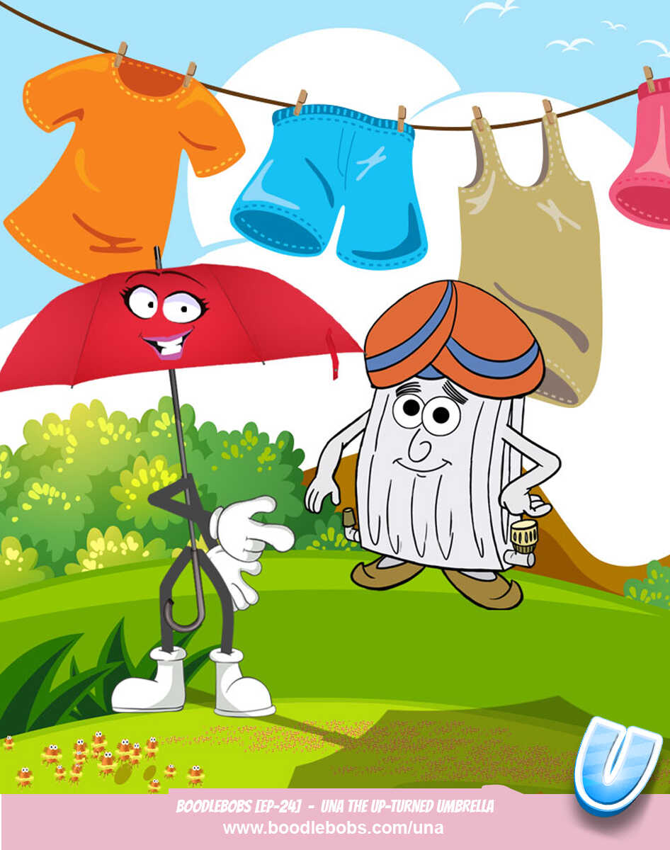 Stories for Kids, Una the Upturned Umbrella Page 2