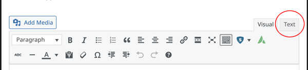 Badge-on-your-website-switch-to-text-mode-to-enter-html